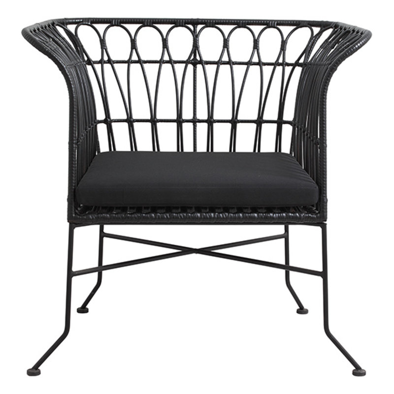Nordal-collectie ALBA lounge chair, black