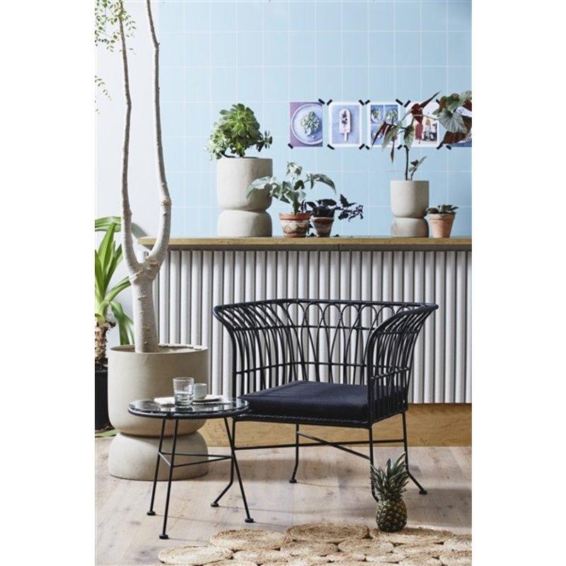 Nordal-collectie Fauteuil / tuinstoel ALBA zwart