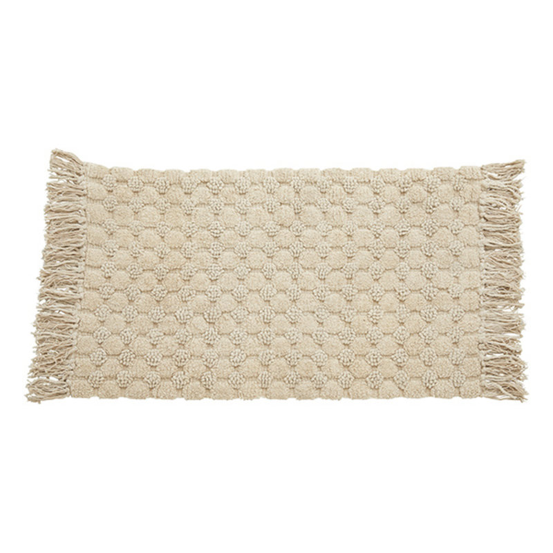 Nordal-collectie LUNA bath rug w/fringes, off white