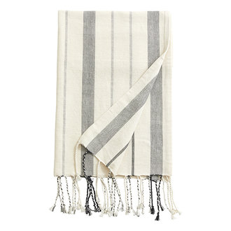 Nordal LYNX, throw/towel, off white/black