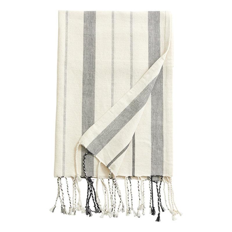 Nordal-collectie LYNX, throw/towel, off white/black