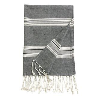 Nordal ORION, throw/towel, off white/black