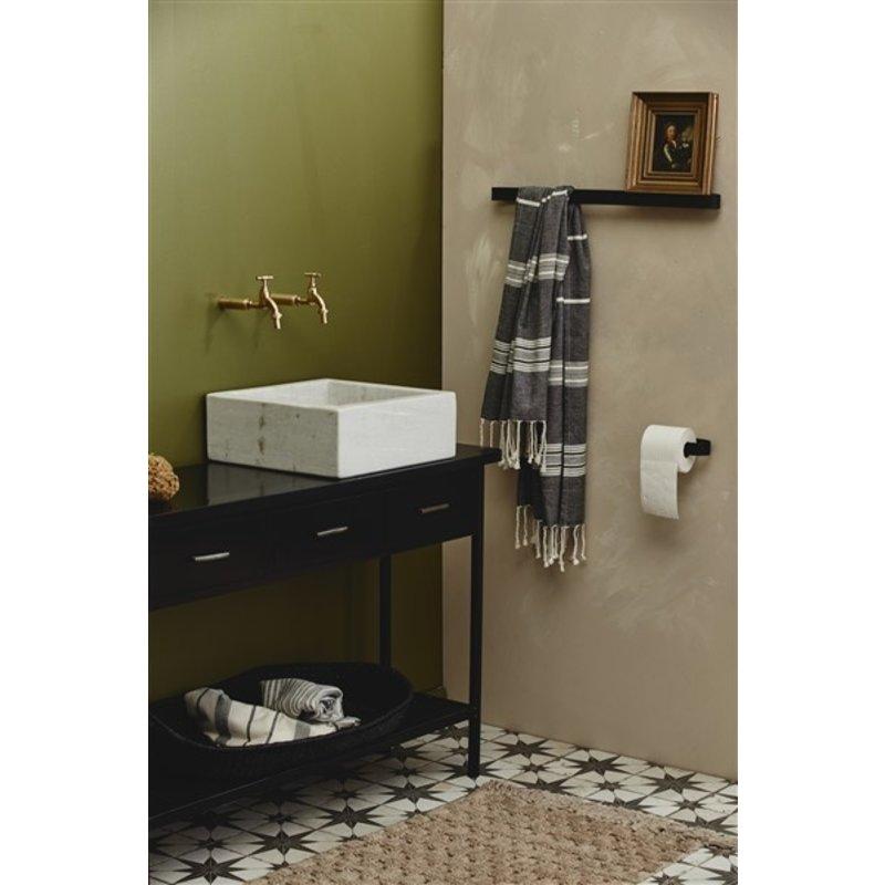 Nordal-collectie ORION, throw/towel, off white/black