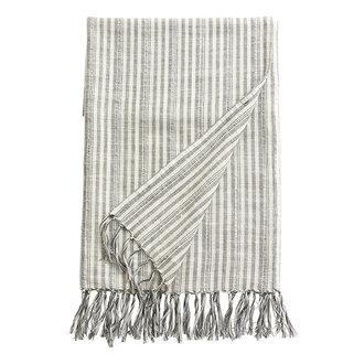 Nordal GEMMA, throw/towel, off white/black