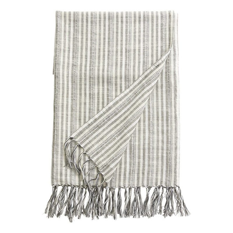 Nordal-collectie GEMMA, throw/towel, off white/black