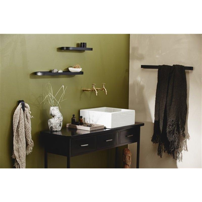 Nordal-collectie SOTRA towel rack, black metal