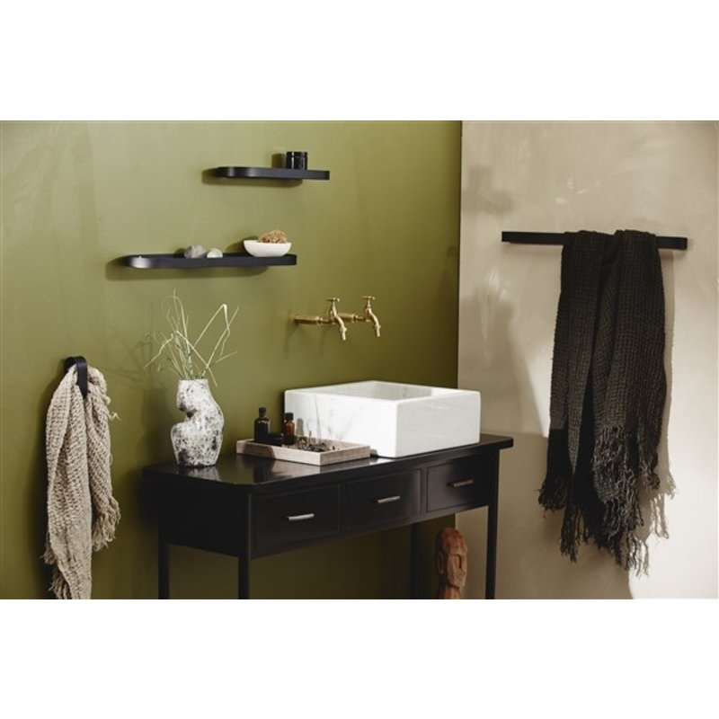 Nordal-collectie SATURN towel w/fringes, linen, natural