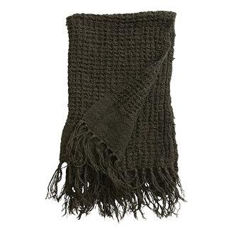 Nordal Handdoek ARGO linnen charcoal 70x50