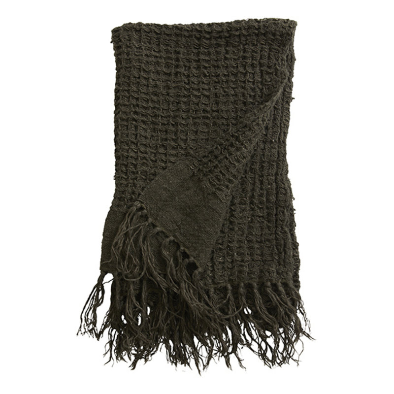 Nordal-collectie Handdoek ARGO linnen charcoal 70x50