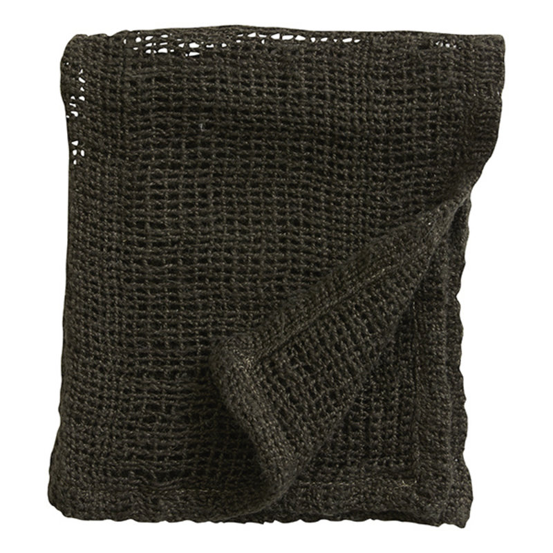 Nordal-collectie ARGO wash cloth, linen, charcoal