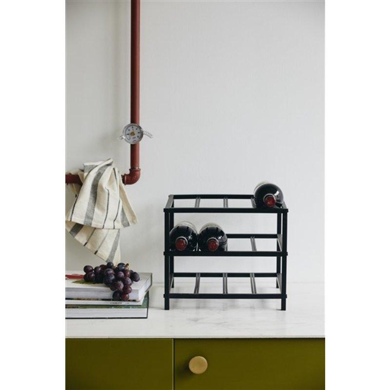 Nordal-collectie Wijnrek LORENZO S zwart