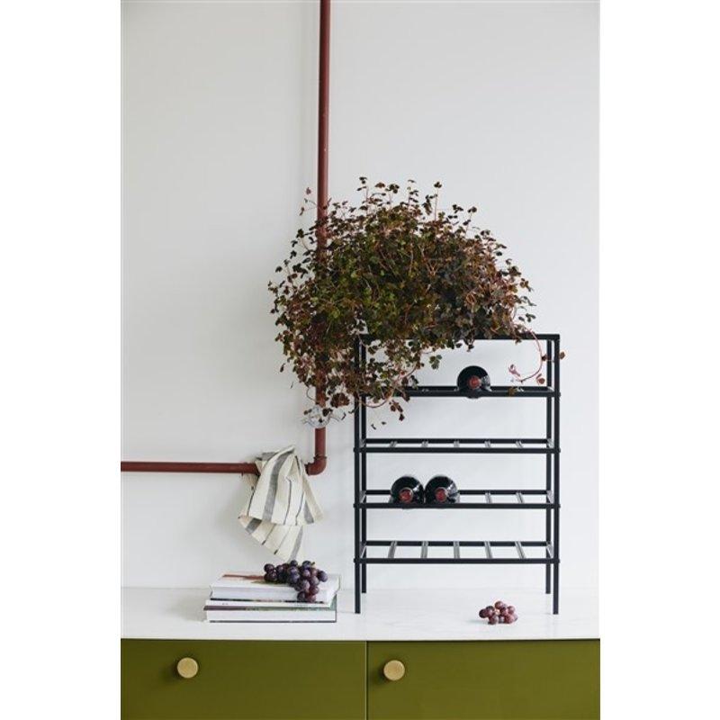 Nordal-collectie LORENZO wine rack, L, black