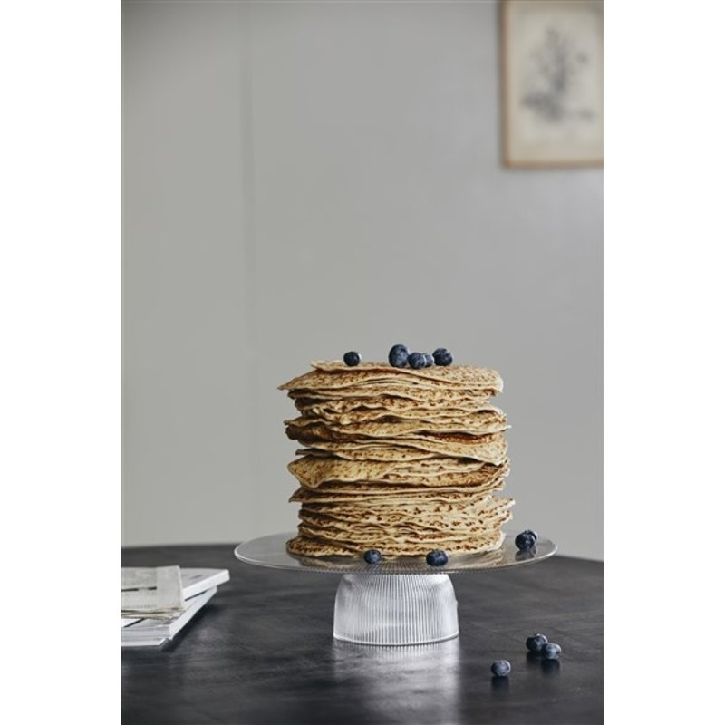 Nordal-collectie FIG cake stand, clear
