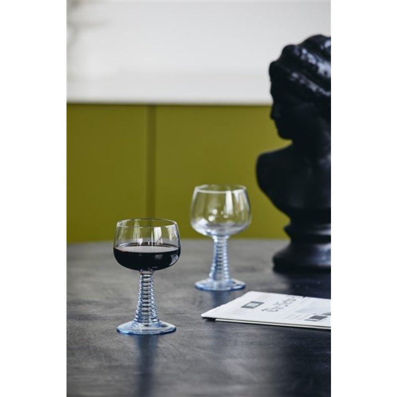 Nordal-collectie Wijnglas GORM lichtblauw