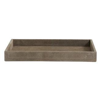 Nordal SAMOA tray, suede leather, grey, large