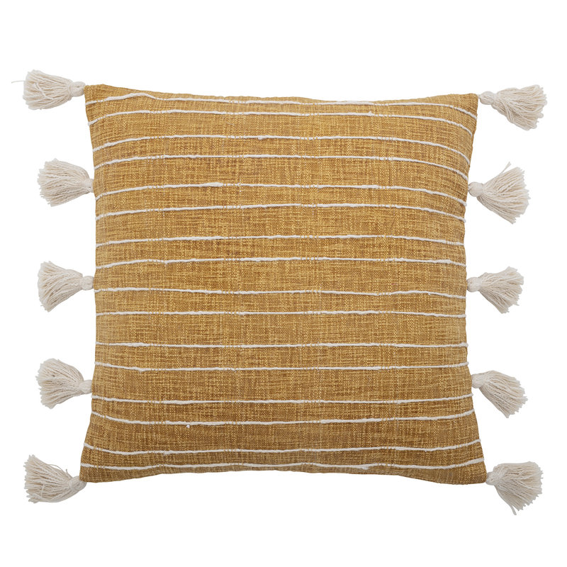 Bloomingville-collectie Emely Cushion Yellow Cotton