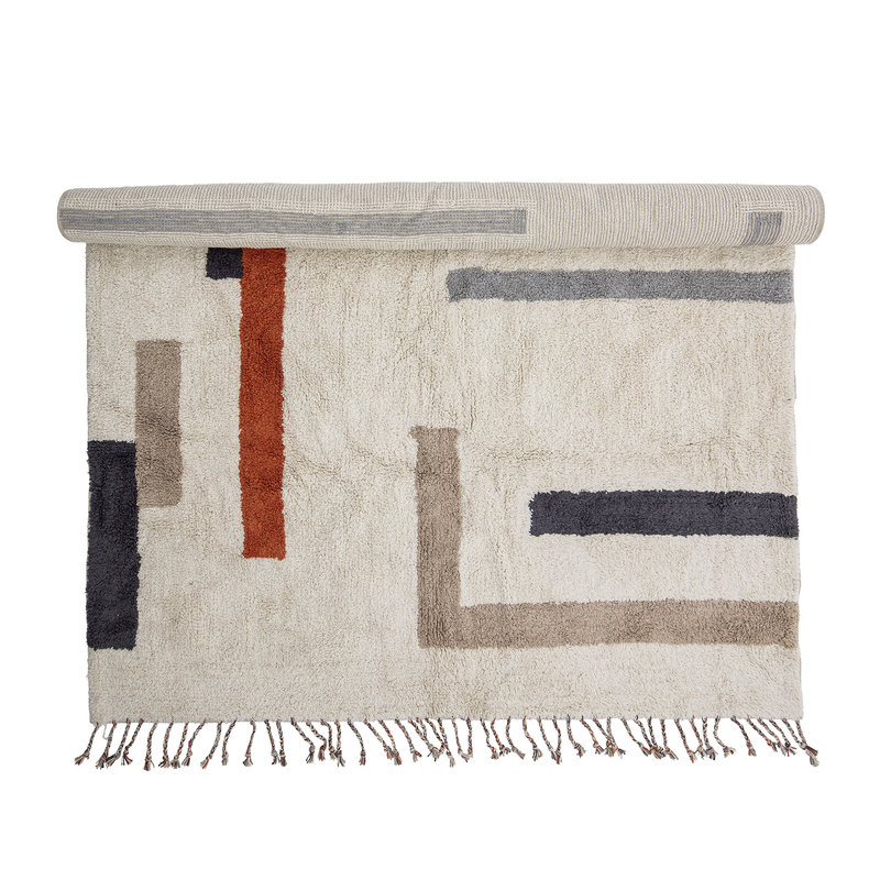 Bloomingville-collectie Jue Rug Nature Cotton