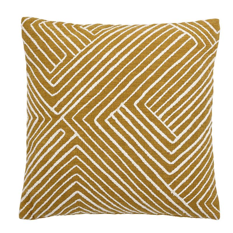 Bloomingville-collectie Giana Cushion Yellow Cotton