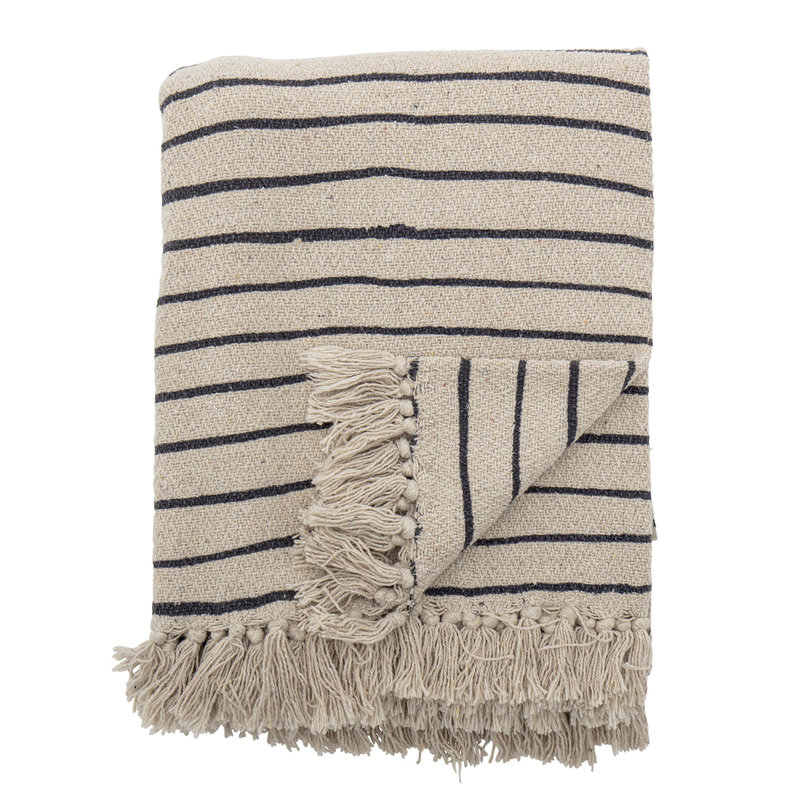 Bloomingville-collectie Eia Throw Nature Recycled Cotton