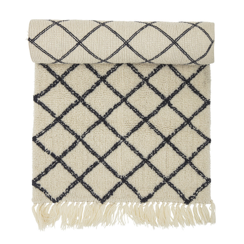 Bloomingville-collectie Warda Rug Nature Wool
