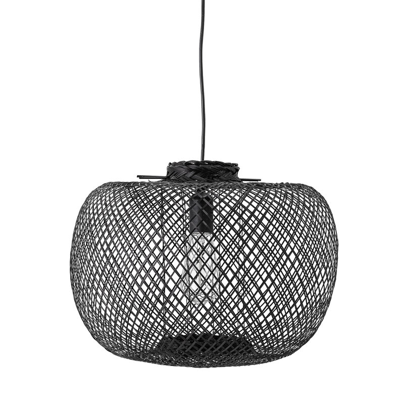 Bloomingville-collectie Kannika Pendant Lamp Black Bamboo