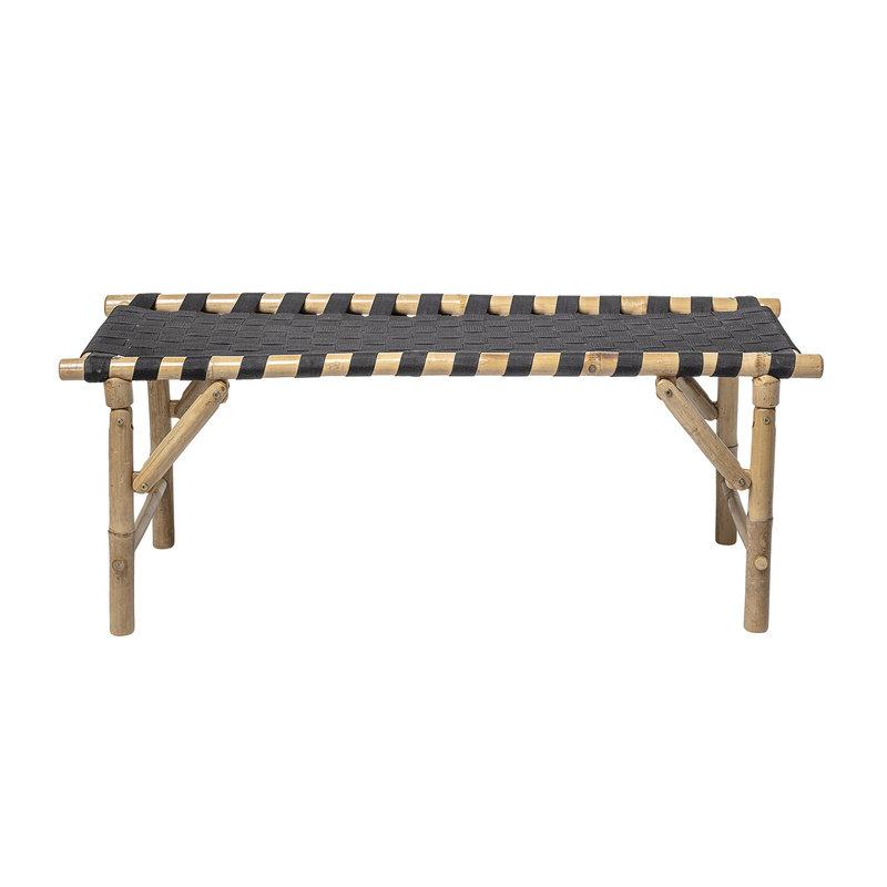 Bloomingville-collectie Vida Bench Black Bamboo