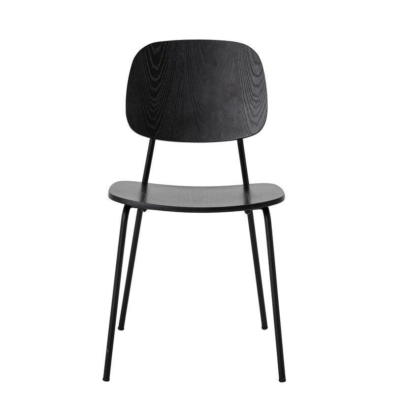 Bloomingville-collectie Monza Dining Chair Black Plywood