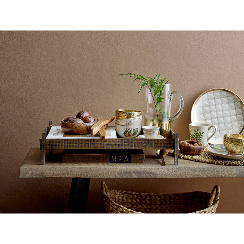 Bloomingville-collectie Raw Bench Brown Oak