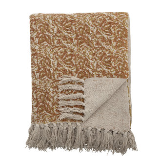 Bloomingville Cianna Throw Brown Recycled Cotton