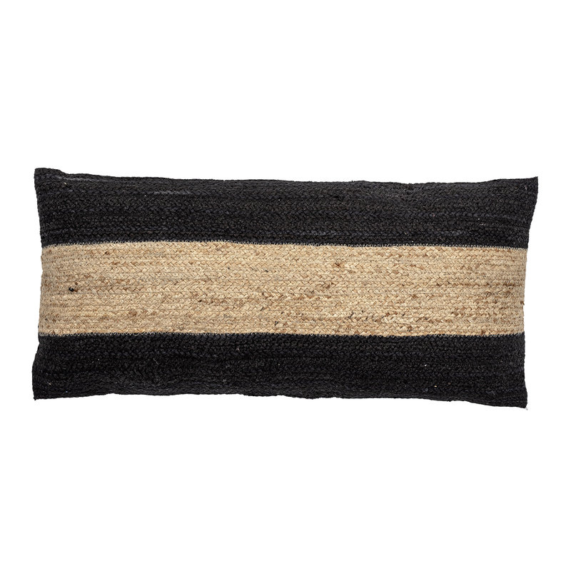 Bloomingville-collectie Guttorm Cushion Black Jute