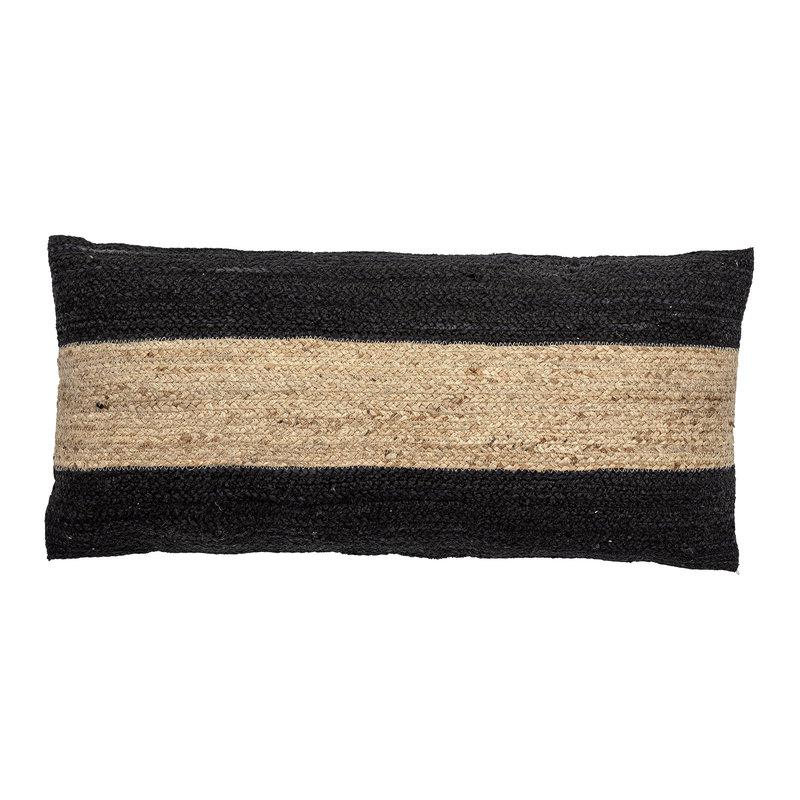 Bloomingville-collectie Kussen Guttorm jute zwarte streep