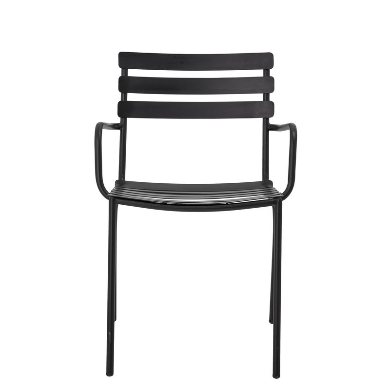 Bloomingville-collectie Monsi Dining Chair Black Galvanized iron