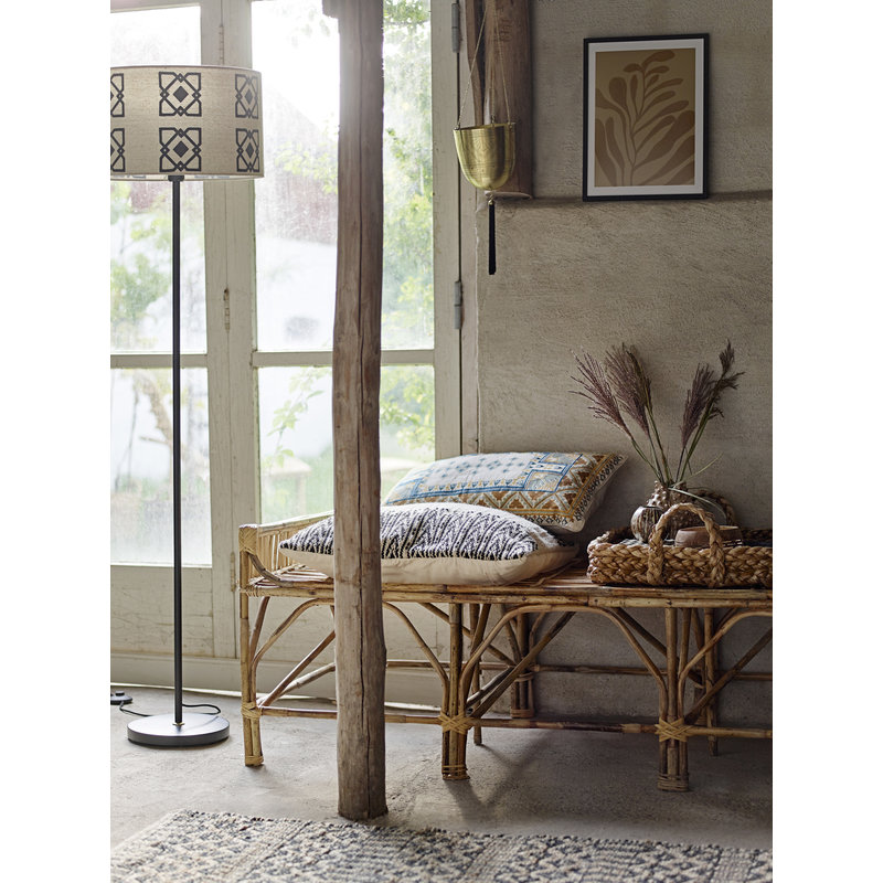 Bloomingville-collectie Pammi Bench Nature Cane