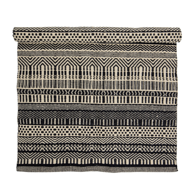 Bloomingville-collectie Joob Rug Black Wool