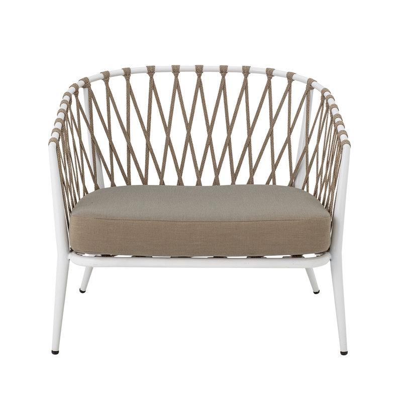 Bloomingville-collectie Lounge stoel Cia wit metaal