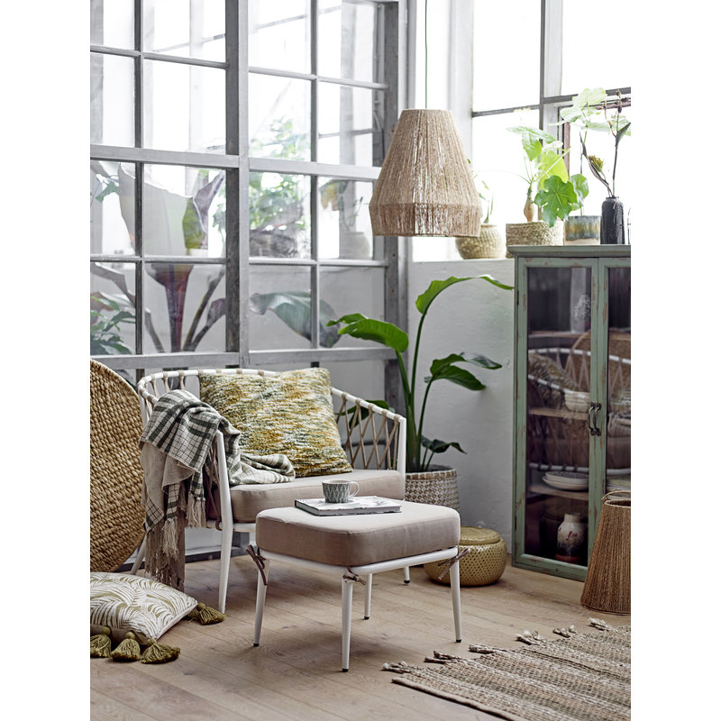 Bloomingville-collectie Cia Lounge Chair White Metal