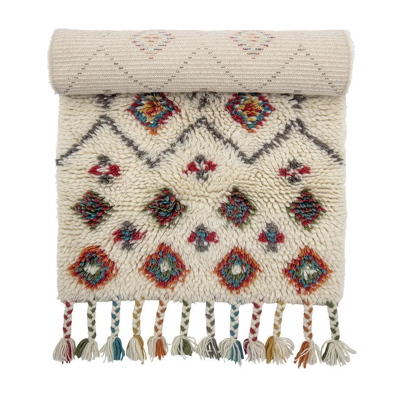 Bloomingville-collectie Vloerkleed Ibne wol - multicolour print
