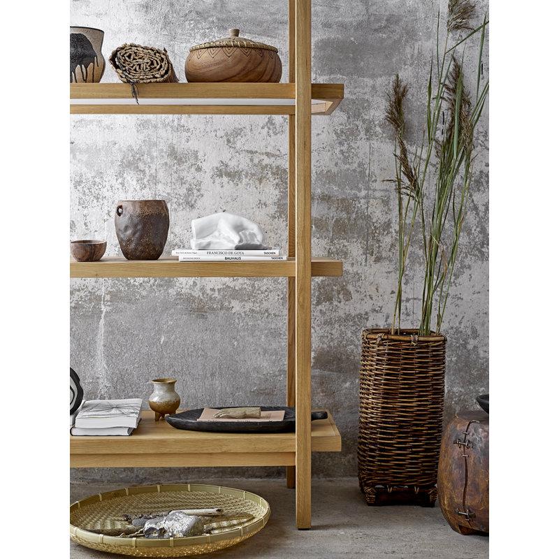 Bloomingville-collectie Schaal blad  Kylar bruin mango hout