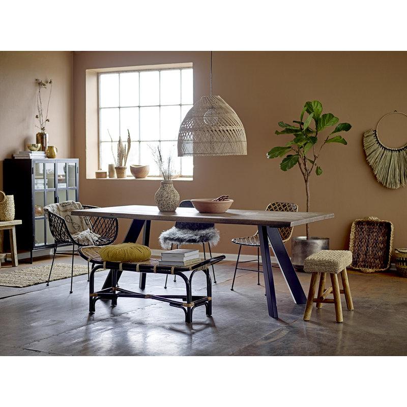 Bloomingville-collectie Lounge stoel Kama zwart rattan