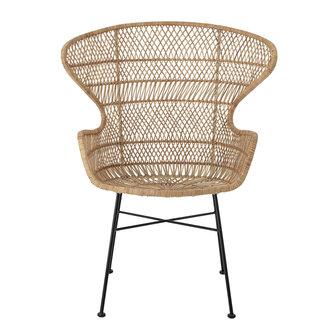 Bloomingville Lounge stoel Oudon naturel rattan