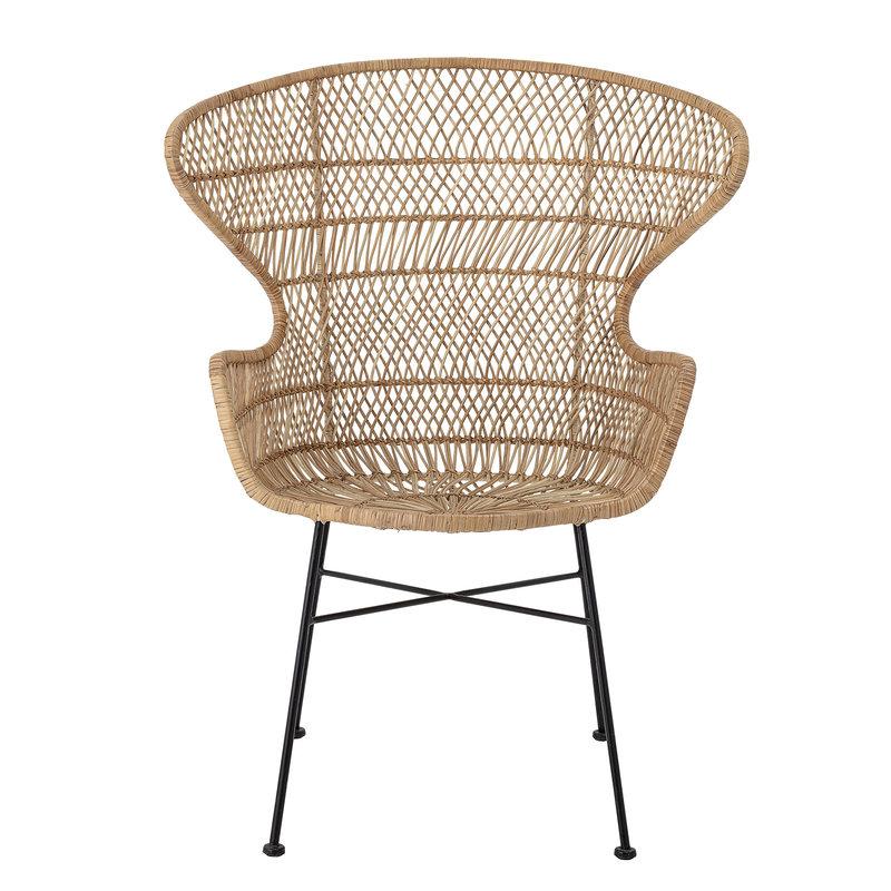 Bloomingville-collectie Lounge stoel Oudon naturel rattan