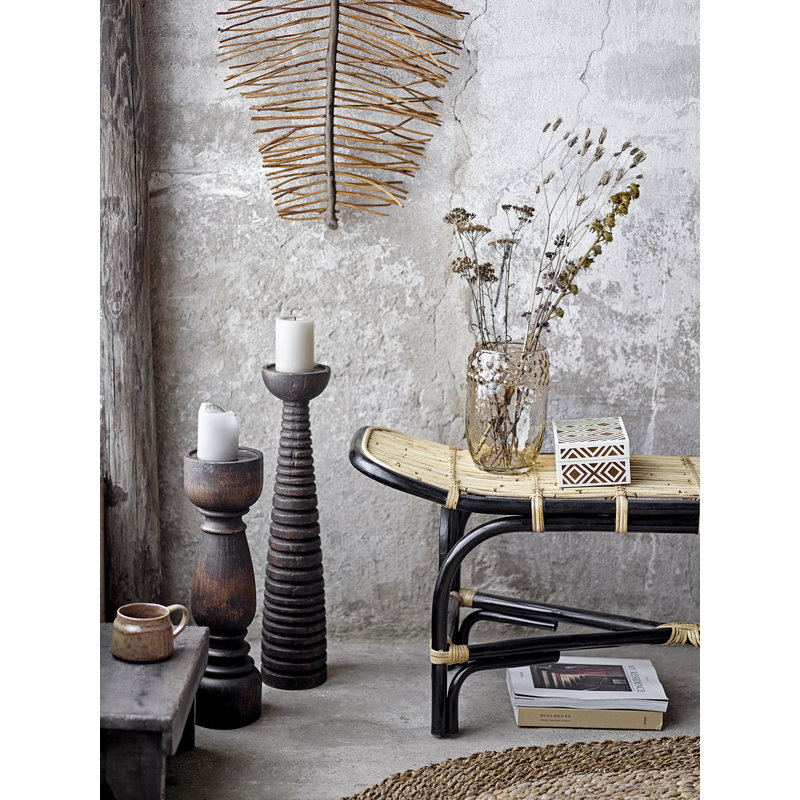 Bloomingville-collectie Pedestal Thore bruin mango hout