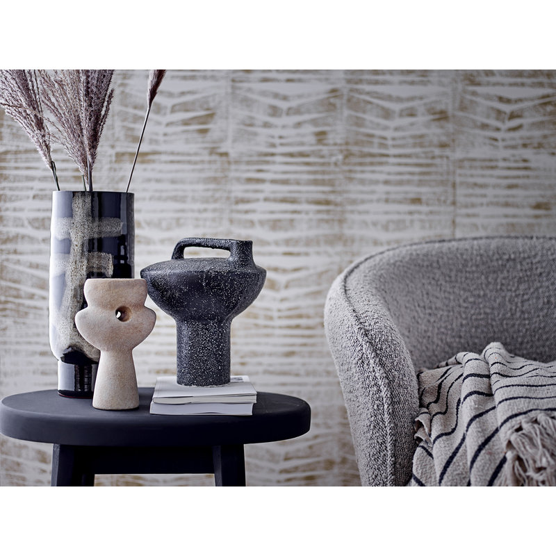 Bloomingville-collectie Lori Deco Vase Black Terracotta