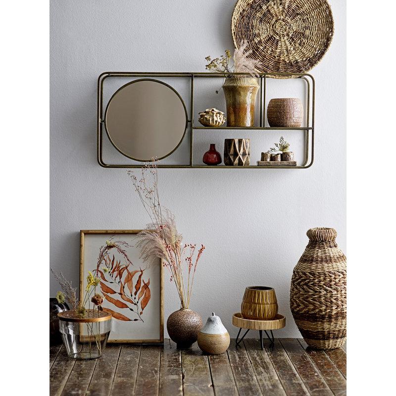Bloomingville-collectie Spiegel Osvald met plank goud