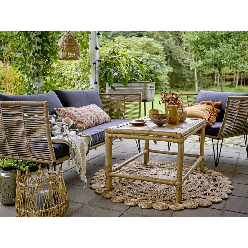 Bloomingville-collectie Mundo Lounge Chair Brown Metal