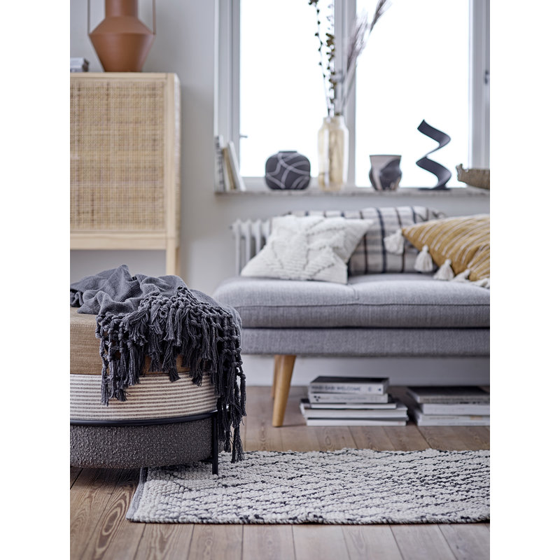Bloomingville-collectie Ebna Cushion Nature Recycled Cotton