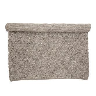 Bloomingville Vloerkleed Huri bruin wol