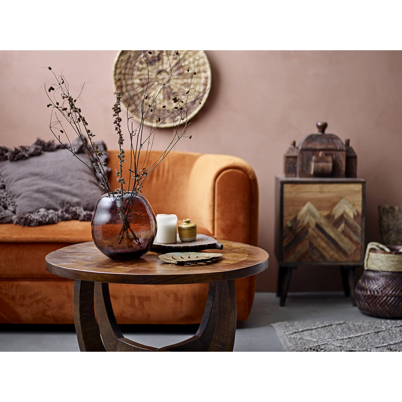 Bloomingville-collectie Huri Rug Brown Wool