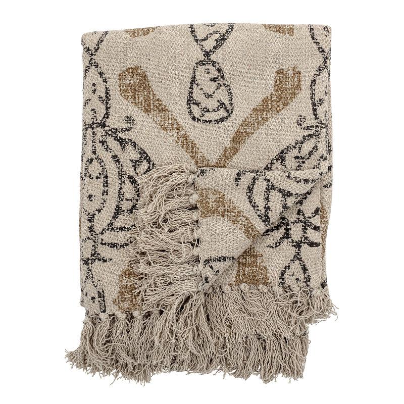 Bloomingville-collectie Plaid Freddy recucled katoen met patroon