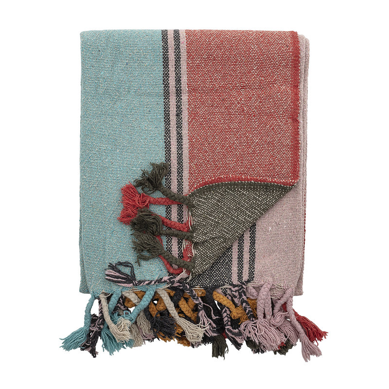 Bloomingville-collectie Serena Throw Multi-color Recycled Cotton